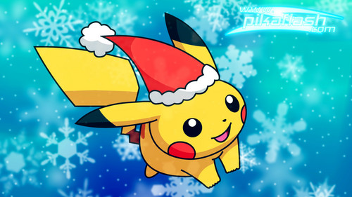 pokemon wallpaper titled natal pikachu