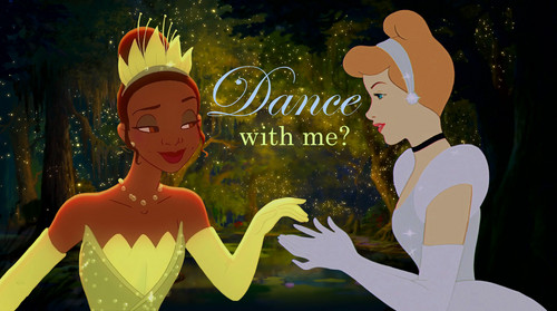 Disney Princess achtergrond possibly with anime titled Dance with me?