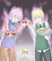 Cupcakes,Scones, Oliver and Arthur and scary Alfred - hetalia photo