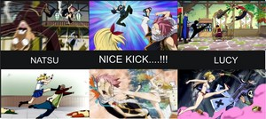 DIFFERENT ABOUT LUCK AND NATSU KICK ^-^
