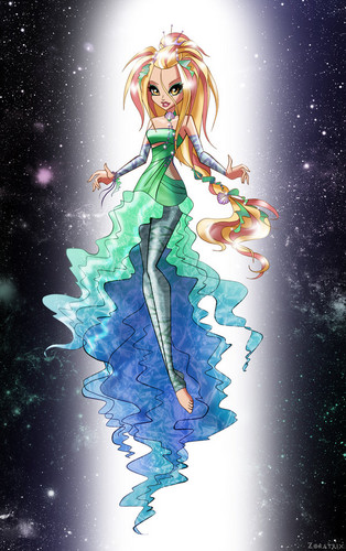 The Winx Club wallpaper possibly containing anime called Daphne Gothic Sirenix
