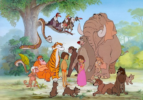 The Jungle Book wallpaper with anime entitled Disney Jungle Book characters