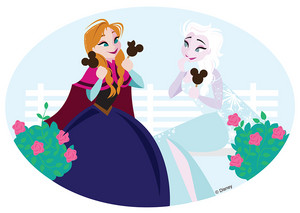 DisneySide Doodles: Anna and Elsa find পছন্দ ফ্রোজেন treats