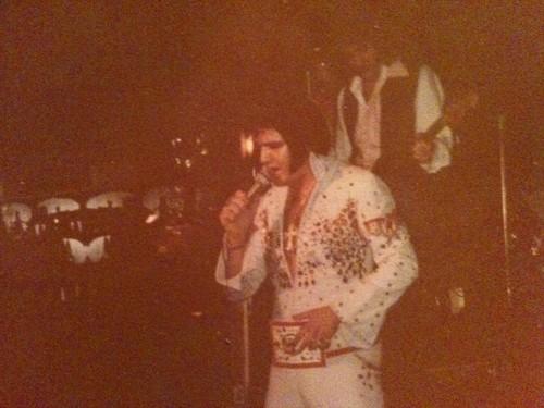 elvis presley fondo de pantalla probably with a sign called Double EL-Larry Blong circa 1985
