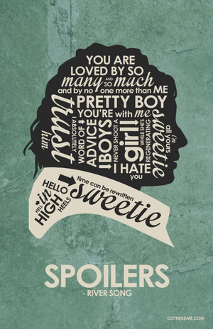 Dr Who - River Song Quote Poster