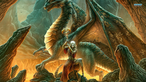 Dragons wallpaper entitled Dragon Warrior