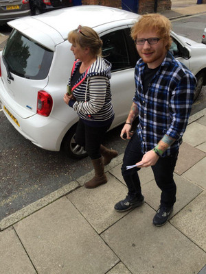 Ed at driving test centre