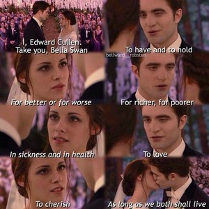 Edward and Bella's wedding vows