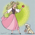 Eilonwy and Gurgi - childhood-animated-movie-heroines fan art