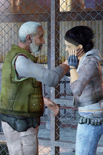 Half Life hình nền containing a chainlink fence entitled Eli and Alyx