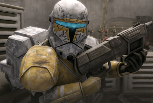 スター・ウォーズ 壁紙 titled Elite Republic Commando Captain Gregor