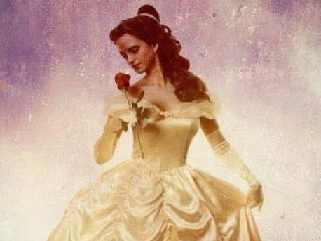 Beauty and the Beast (2017) پیپر وال with a hoopskirt entitled Emma / Belle