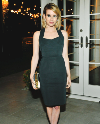 Emma Roberts wallpaper probably with a cocktail dress titled Emma Roberts