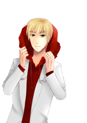 England and his hoodie