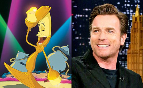 "Beauty and the Beast (2017) پیپر وال called Ewan McGregor ""Lumiere"""