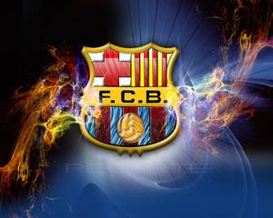 FC Barcelona Logo দেওয়ালপত্র fc barcelona 22614314