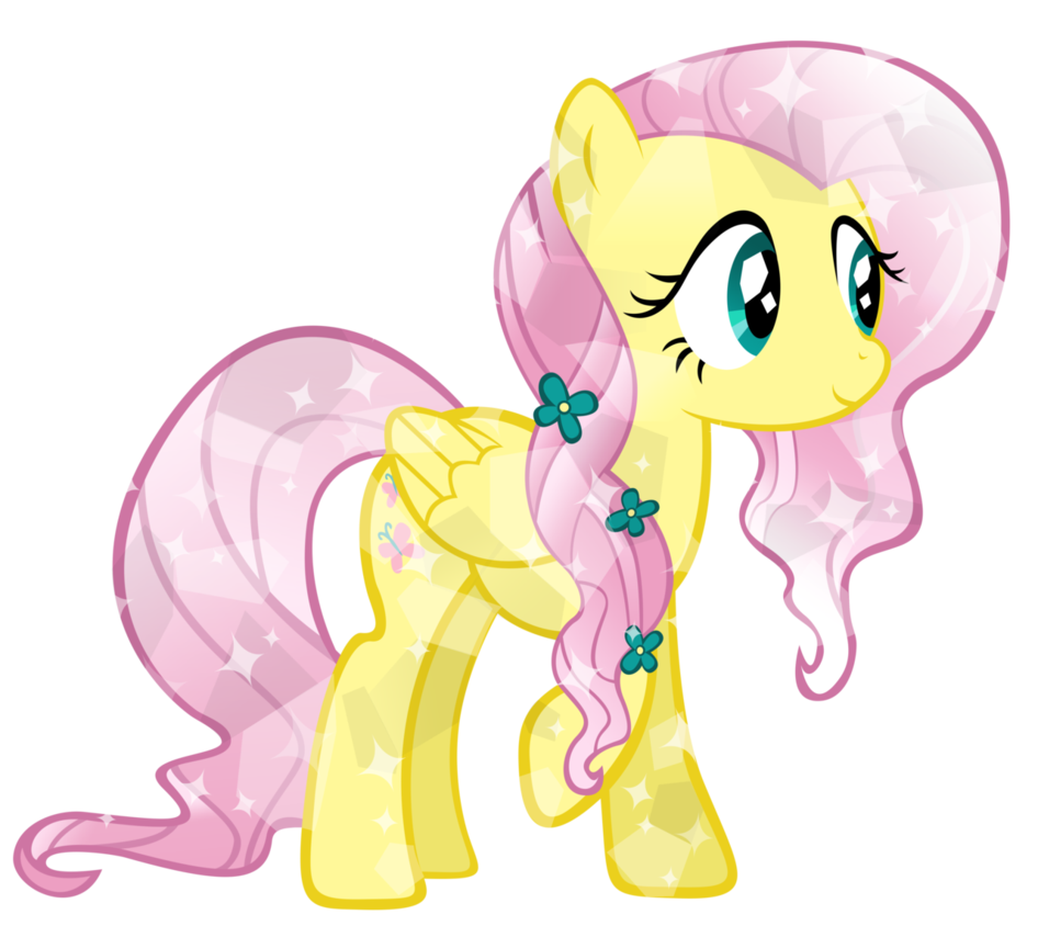 Fanmade Fluttershy Crystal Pony