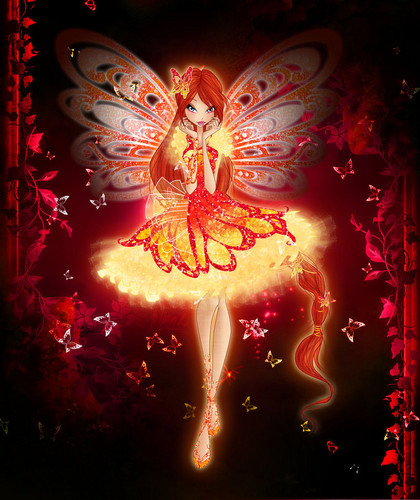 The Winx Club پیپر وال containing a آگ کے, آگ and a آگ کے, آگ called Fiery تیتلی