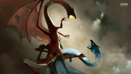 Dragons wallpaper entitled Fire and Ice