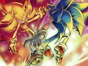 Fleetway Super Sonic VS. Sonic the Hedgehog