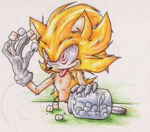 Fleetway Super Sonic with marshmallows