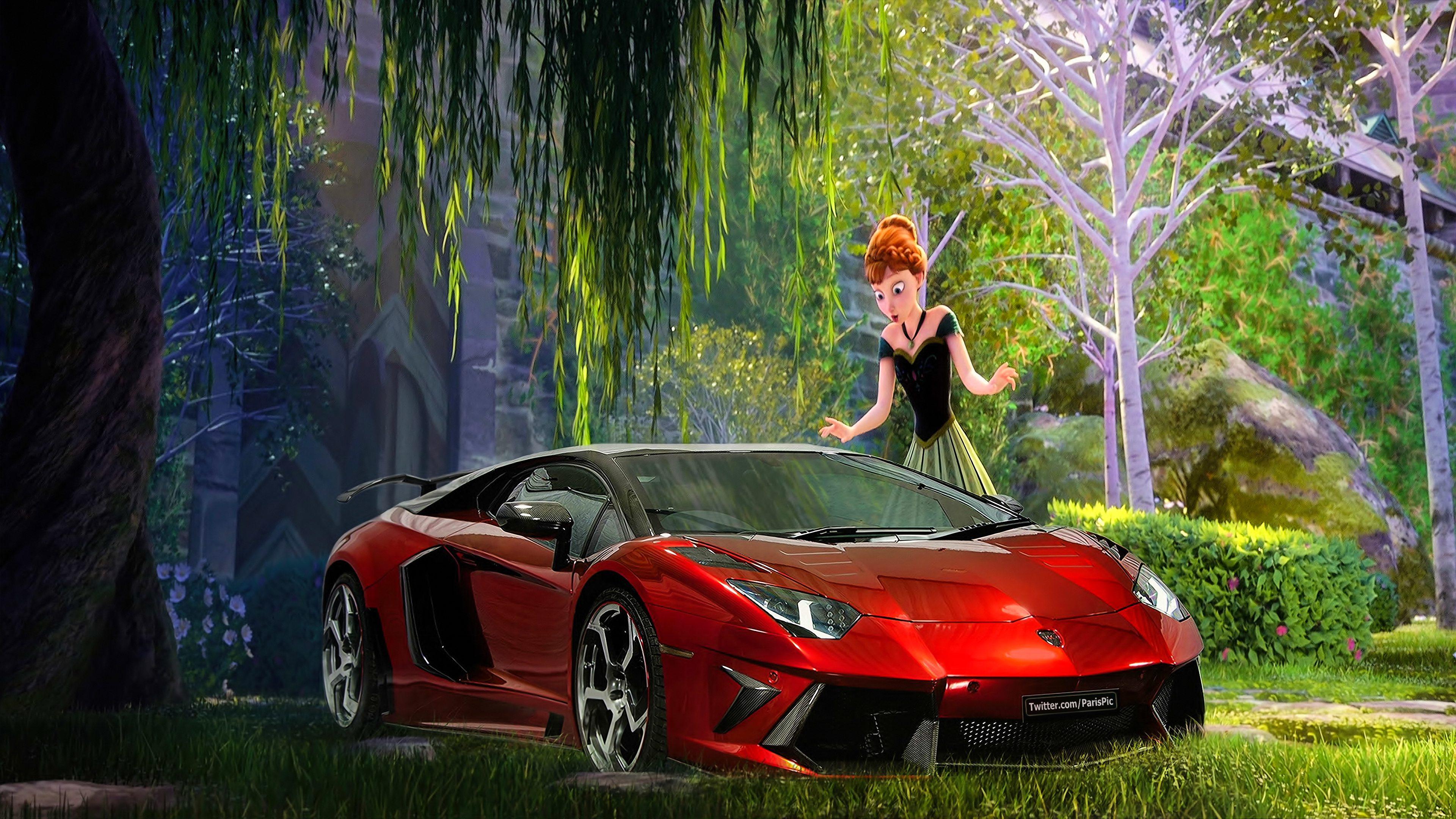 겨울왕국 Anna Elsa 2013 바탕화면 Lamborghini 4K (@ParisPic)