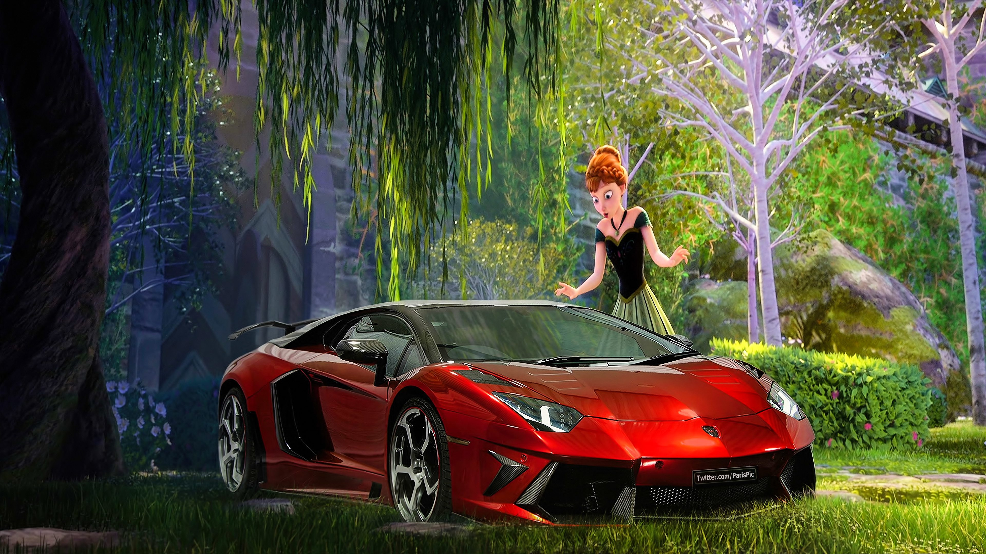 Frozen Anna Elsa 2013 Wallpaper Lamborghini 4k Parispic Disney Princess Fan Art 38791232