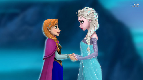 elsa e ana wallpaper possibly with a bouquet and a portrait titled Frozen - Uma Aventura Congelante