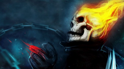Fandoms Wallpaper With A Fire Titled Ghost Rider