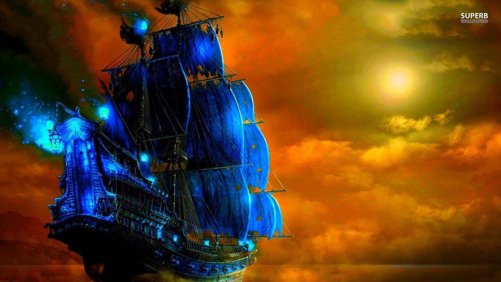 pirate ghost ship wallpaper
