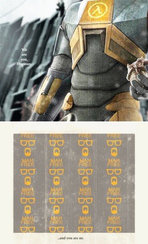 Half Life hình nền containing a sign called Gordon Freeman
