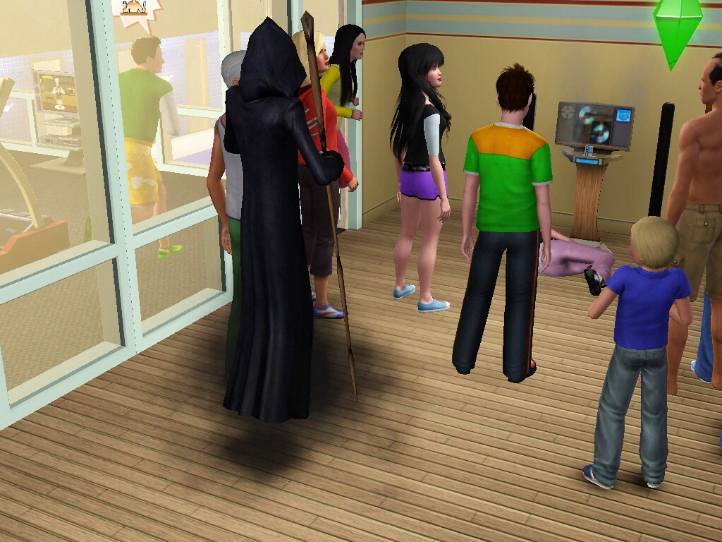 The Sims 3 Grim Reaper Images Grim At A Gym Hd Wallpaper And