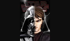 Half Anakin Skywalker, half Darth Vader.