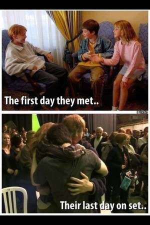 Harry,Ron,Hermione(aka Daniel,Rupert and Emma),then and now