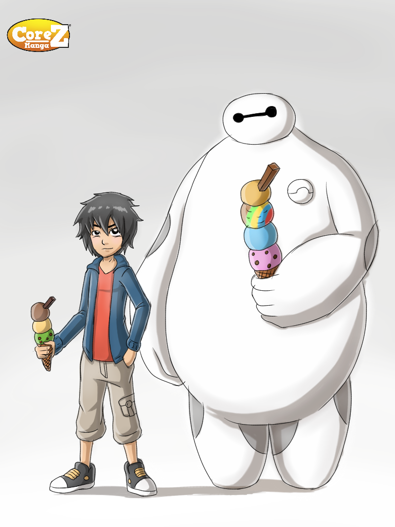 Hiro and baymax drawing