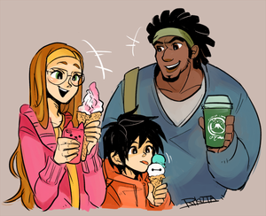 Honey Lemon, Hiro and Wasabi