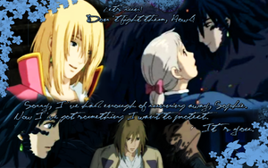 Howl and Sophie kertas dinding