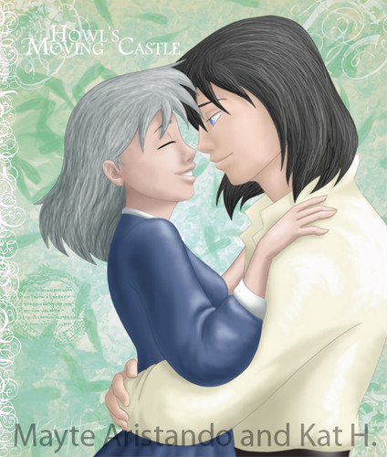 Howl and Sophie wallpaper containing a portrait called Howl and Sophie