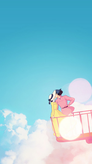 Howl's Moving castillo Phone fondo de pantalla