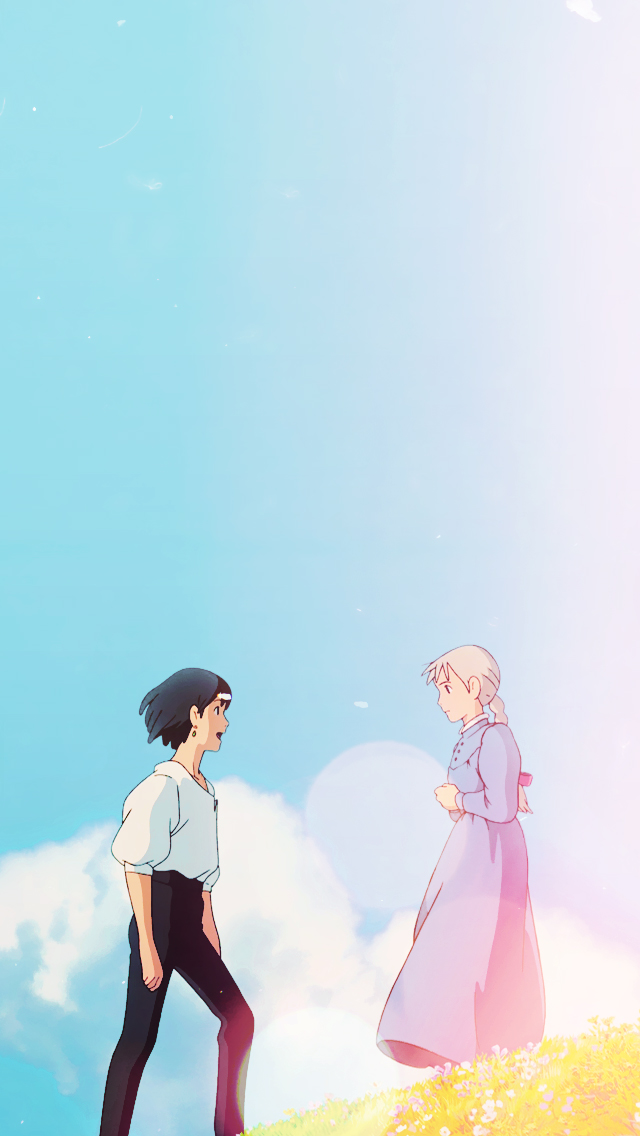 Howl's Moving Castle Phone Wallpaper