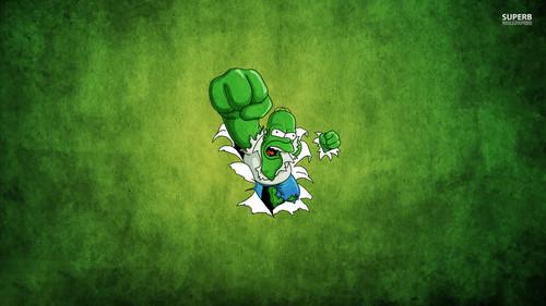 hoạt hình hình nền probably containing a sign titled Hulk Homer