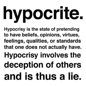 Hypocrites...