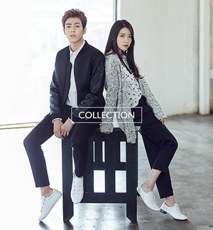 IU and Lee Hyun Woo for Unionbay Fall Collection Sketch