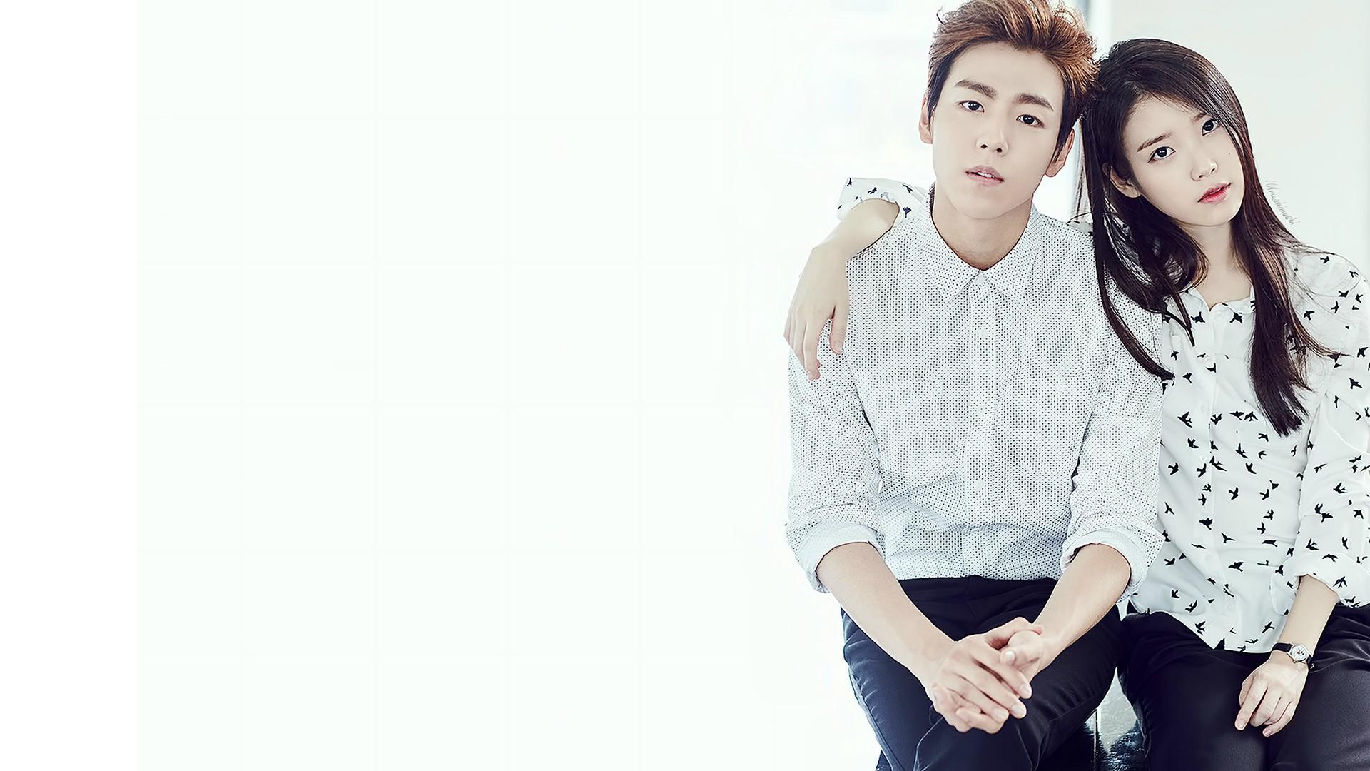 IU and LeeHyunWoo wallpaper 1920x1080