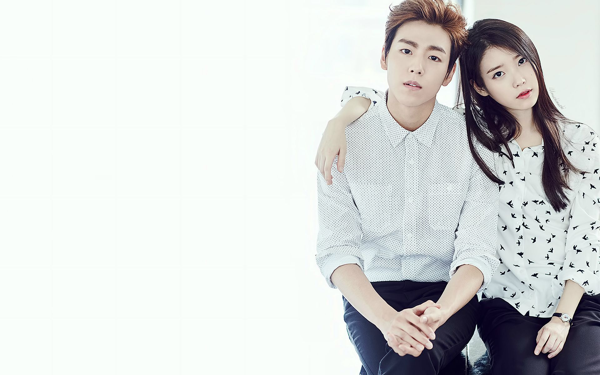 iu and LeeHyunWoo wallpaper 1920x1200