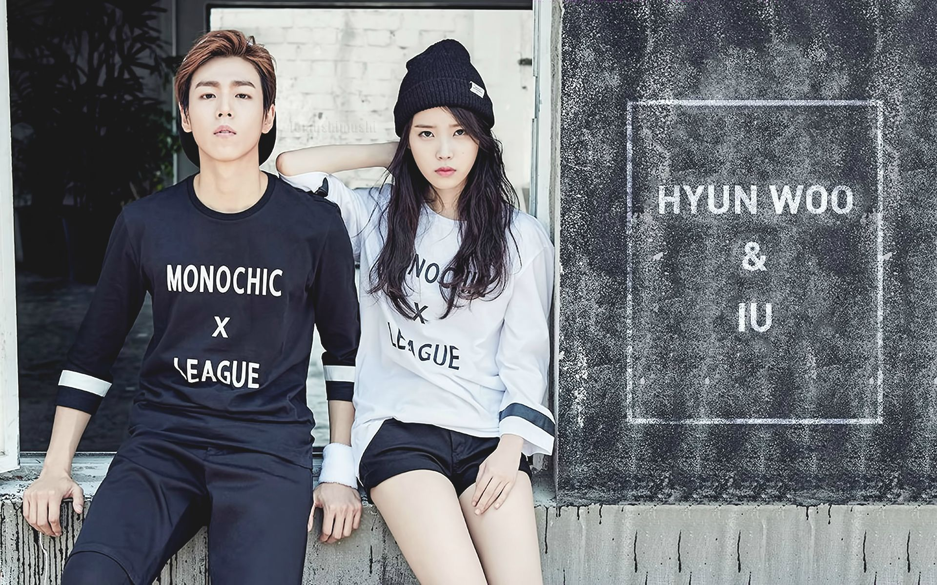 iu and Lee Hyun Woo 1920x1200