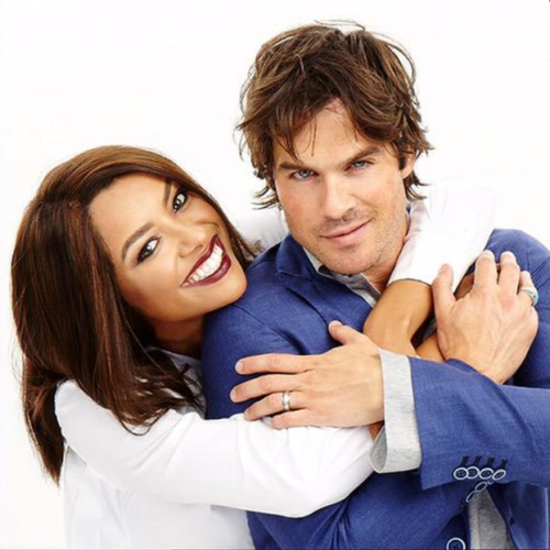 ian somerhalder wallpaper possibly with a well dressed person, a neonate, and a portrait called Ian and Kat Graham
