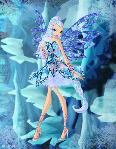 The Winx Club پیپر وال titled Icy Butterflix