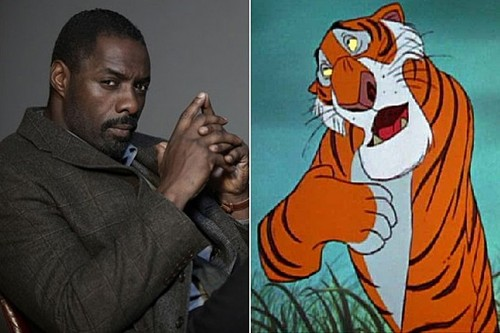 The Jungle Book wallpaper probably containing anime called Idris Elba and Shere Khan.