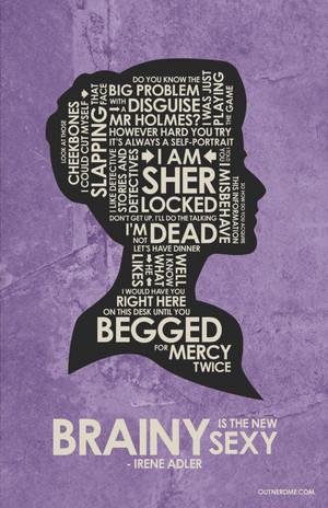 Irene Adler Quote Poster